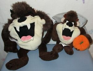 Warner Bros Studio Store Taz Tasmanian Devil Beanie Plush 1997/99 Lot of 2