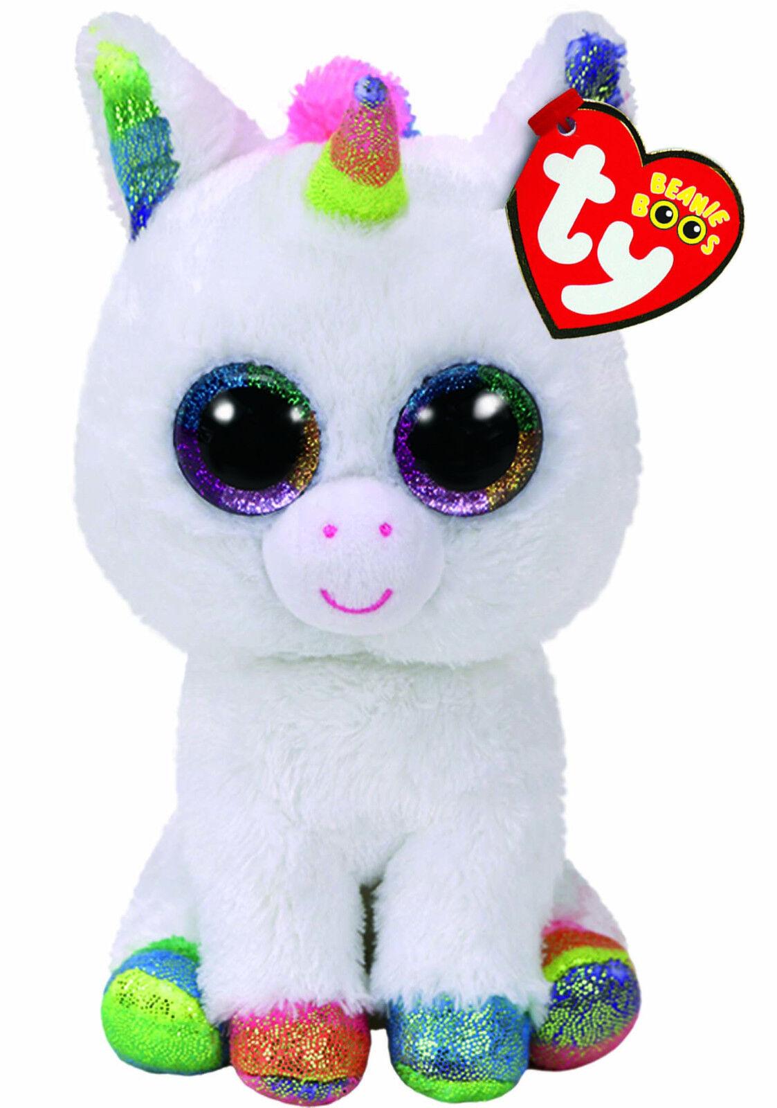 TY Beanie Boos  Pixy the White Unicorn  Various Sizes