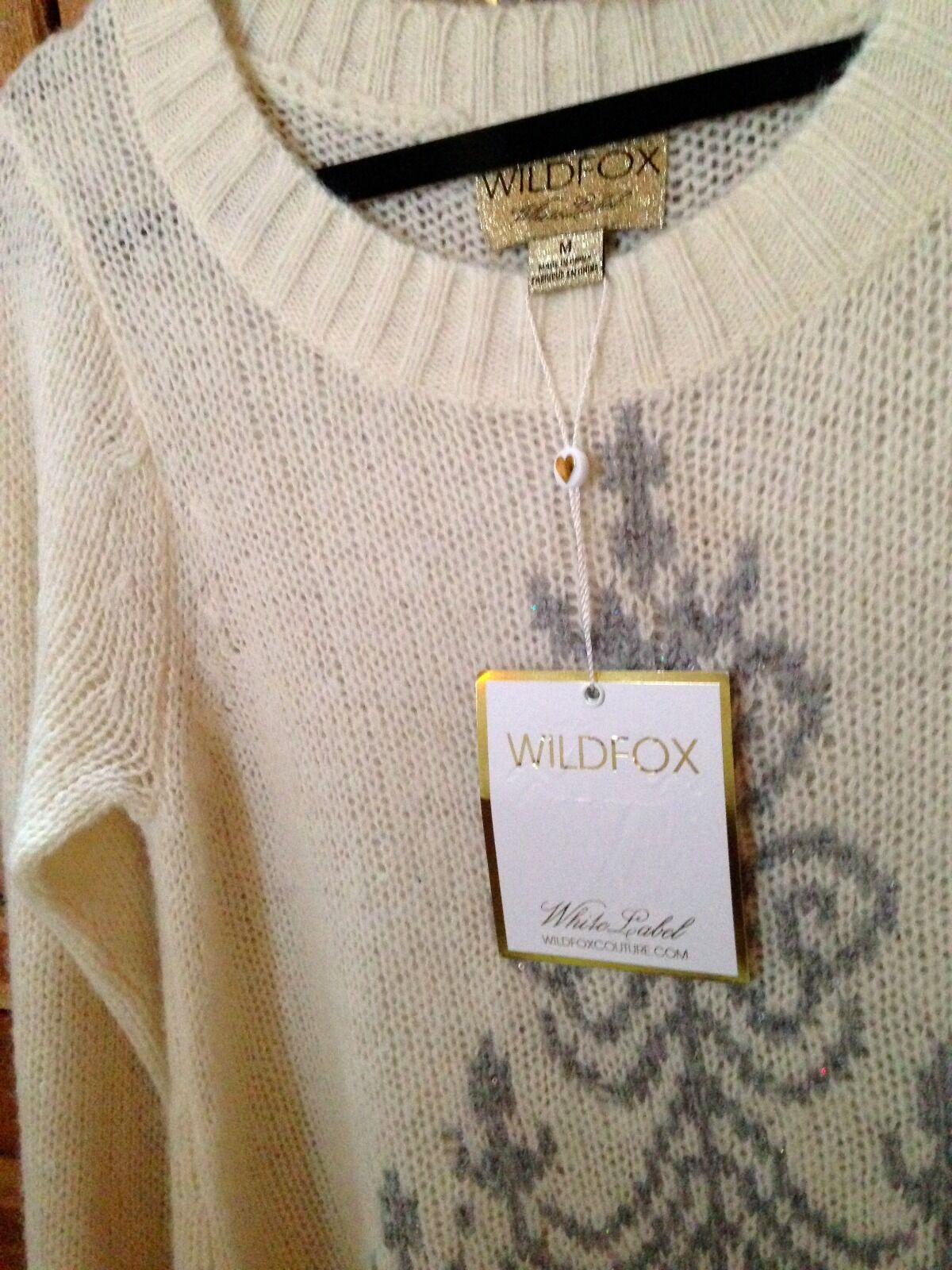 Wildfox Ivory Rare Chandelier Sweater Sweater Sweater S NWT  300 5f5c65
