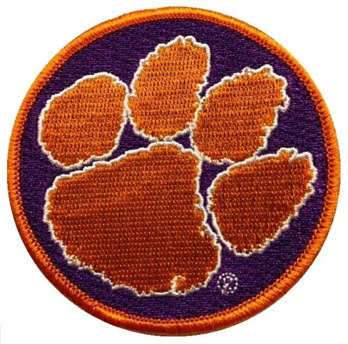 "Clemson 3/"" X 3/"" Embroidered Patch 2"