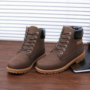 Mens-Waterproof-Walking-Hiking-Winter-Work-Combat-Ankle-Boots-Shoes-Trainers