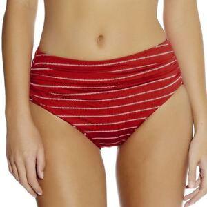 Fantasie-Swimwear-Ravello-Gathered-Deep-Bikini-Brief-Bottoms-5609-Rouge