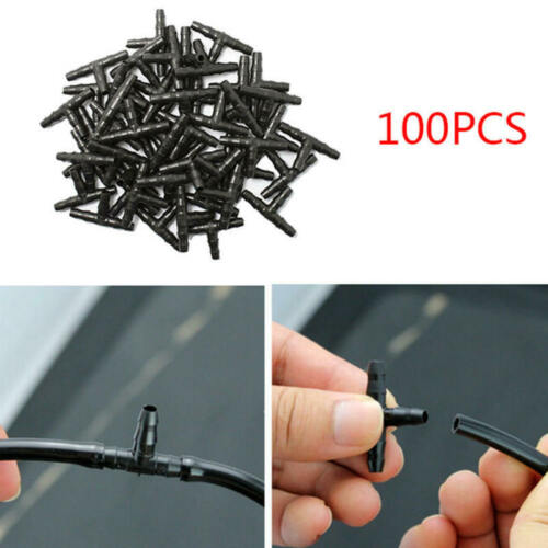 100pcs Plastic Tee joint Hoses Coupling Connector Irrigation Drip Syst BOT