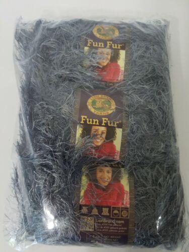 LAVA Sealed Bag of 3-Lion Brand Yarn Fun Fur 40g//57 yd each skein