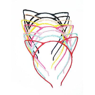 NEON PINK CAT EARS HEADBAND KID ADULT FANCY DRESS HEN DO PARTY COSTUME FUN