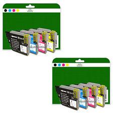 8 Ink Cartridges for Brother DCP 145C 165C 167C 195C 197C non-OEM LC980