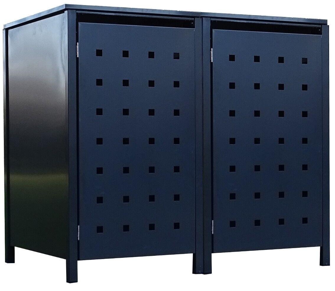 nuovo di marca 2 Tailor dei rifiuti box box box BASIC per 120 LITRI tonnellata Punzone 2 COMPLETA ANTRACITE  godendo i tuoi acquisti