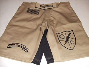 FIGHT SHORTS 4XL  5XL ARMY RANGER DESERT TAN COMBATANT MMA PT S-T-COMP BOARD