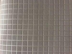 Carta da parati grigio bagno cucina piastrella mosaico mattoncini 1