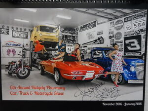 Ridgely-Car-Show-14-Month-Deluxe-Wall-Calendar-AUTOGRAPHED-Richard-Petty-Charity