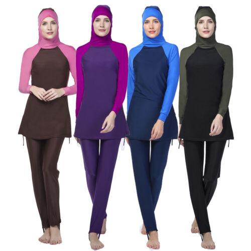 Muslim Lady Modesty Swimwear Swimsuit Full Cover Islamic Beachwear Arab Burkini