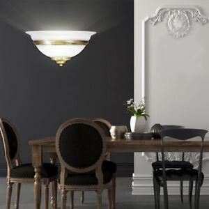 style-campagnard-LED-Lumiere-murale-Escalier-eclairage-vieux-laiton-verre-EEK-A