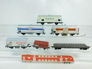 BN808-1-6x-Fleischmann-H0-DC-Gueterwagen-Jaegermeister-DB-Interfrigo-FS-etc