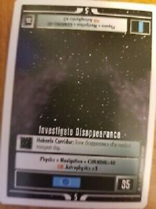 Star Trek CCG Premiere WB Unlimited Investigate Time Continuum