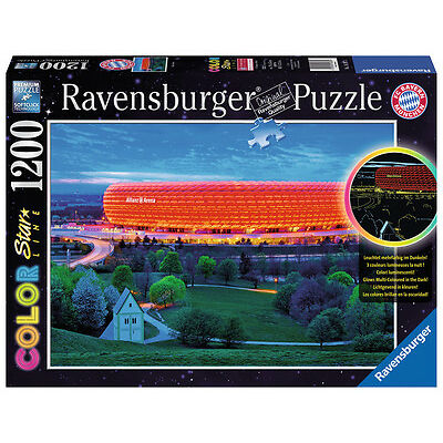 1200 Teile Ravensburger Puzzle Star Line leuchtet Allianz Arena 16187
