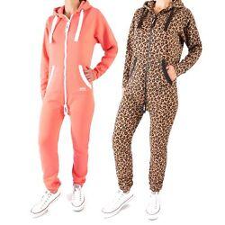 Finchgirl FG18R Damen Jumpsuit Overall Einteiler Jogging Training Anzug