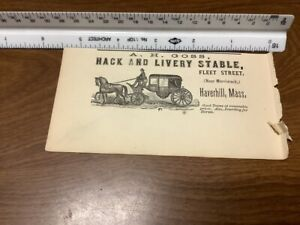 original removed 1869 ad: A H Goss HACK & LIVERY STABLE haverhill mass Carriage