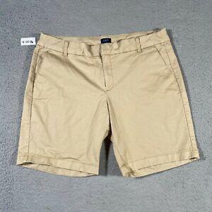 J Crew Shorts Womens 14 Beige Tan Khaki Chino Cotton Casual Outdoor Golf Golfer