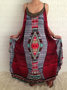 Women-039-s-Sleeveless-Boho-Gypsy-Floaty-Summer-Maxi-Long-Casual-Dress-Size-18-20-22