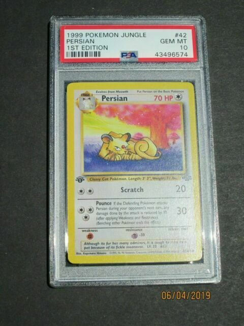Details about  /Persian 42//64 1st Edition Jungle Set Non-Holo Pokemon Card
