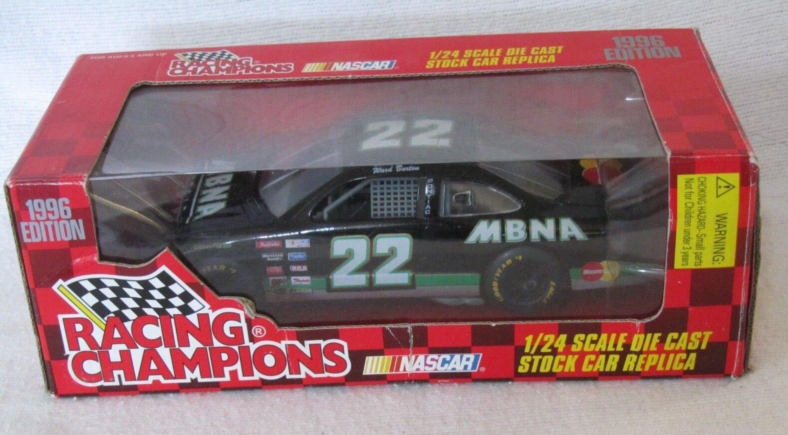 Racing Champions NASCAR WARD BURTON MBNA 1996 PONTIAC GRAND PRIX  1 24 NIB