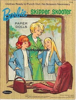 VINTAGE 1965 BARBIE MIDGE SKIP PAPER DOLL ~WHITMAN~RARE UNCUT LASER REPRODUCTION