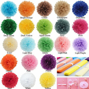 10PCS Tissue Paper Pom Poms Flower Ball Wedding Party Baby Shower Decoration