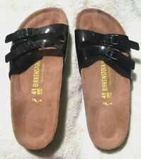 EUC *BIRKENSTOCK*  IBIZA, Blk Patent Leather Sandal, Ladies 10M,Mens 8M,Euro 45