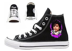 Del Norte patrón Sumamente elegante  Prince Custom Converse All Star Hombre Mujer el símbolo púrpura cantante  Leyenda | eBay