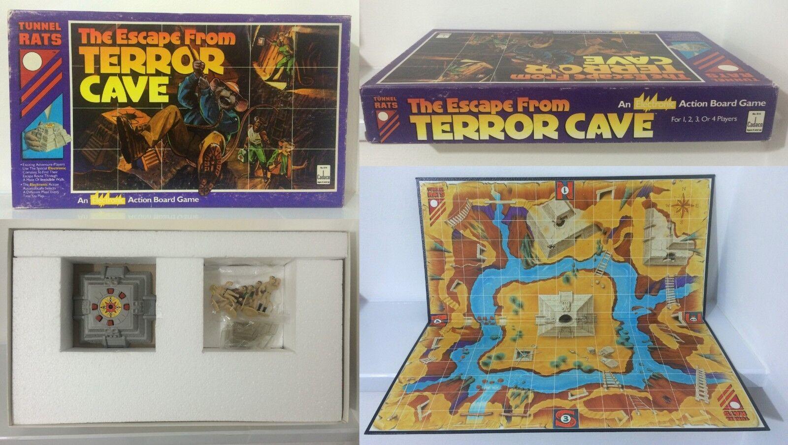 alta qualità e spedizione veloce The Escape From Terror Cave Tunnel Rats Electronic Electronic Electronic tavola gioco USA 1990 Vintage  sconti e altro