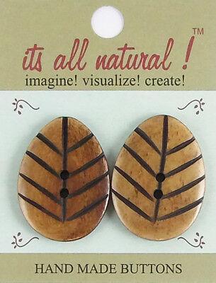 Antique Brown 20x36mm Handmade Natural Bone Buttons Swirl Design