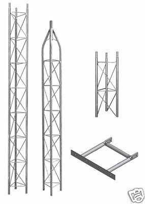 25G AMERICAN TOWER, ROHN TOWER STYLE-AME25**NEW** W/3' BASE-50 FOOT.