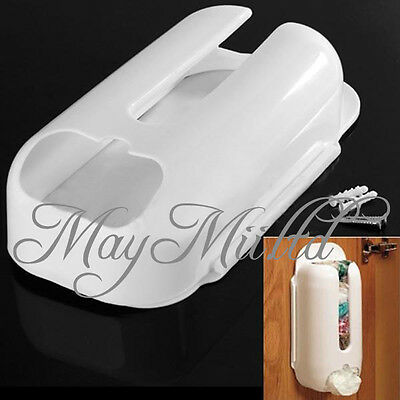 Wall Mount Plastic Recycling Tidy Bag Store Carrier Holder  Storage Organizer MI