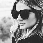 Fashion Retro Flat Top Glasses Rivets Vintage Women Sunglasses Cat eye 2017