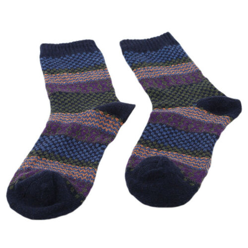Men/'s Warm Winter Thick Wool Mixture Retro Plaid Cashmere Ankle Soft Socks CB