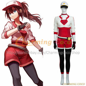 Image is loading Pokemon-GO-Female-Red-Cosplay-Costume-Fancy-Dress-  sc 1 st  eBay & Pokemon GO Female Red Cosplay Costume Fancy Dress Women Halloween ...