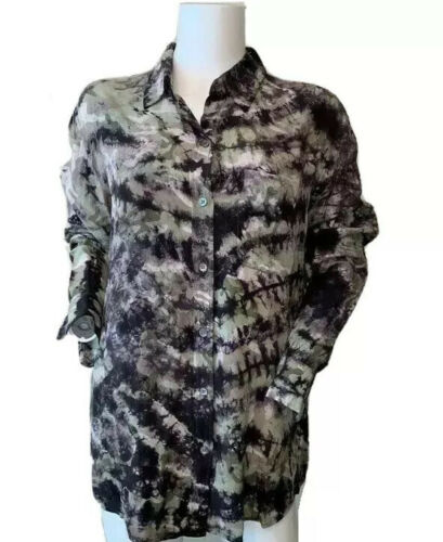 EQUIPMENT FEMME Size XS Signature Silk Camouflage