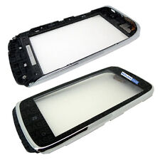 For Nokia Lumia 610 Touch Screen Digitizer Glass Bezel Frame Silver - OEM