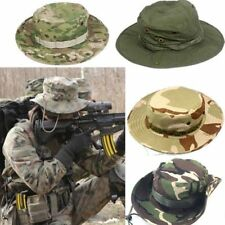 ba92a856890 Bucket Hat Wide Brim Military Hats Sun Hat Boonie Hunting Fishing Outdoor  Cap