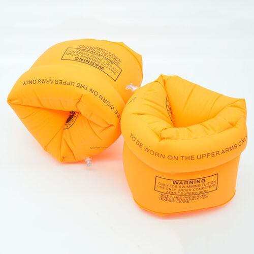 PVC Inflatable Pool Beach Swimming Aid Arm Bands Ring Float Adult Swim Sport JM