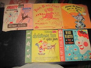 Vintage Children Song RECORD Vinyl ALBUMS Lot