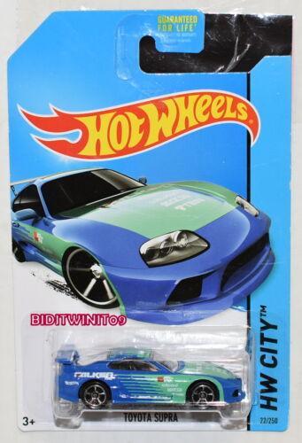 Nacht Burnerz Toyota Supra Falken Blau Hot Wheels 2014 Hw Stadt
