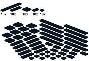 Lego-Bricksy-039-s-Bascis-Schwarz-G04-Glatte-Teile-Black