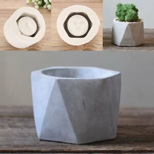 Handmade Silicone Flower Pot Mould Geometric Concrete Cement Planter