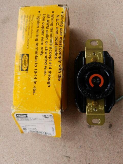 New Hubbell Hbl2710 Twist 250vac