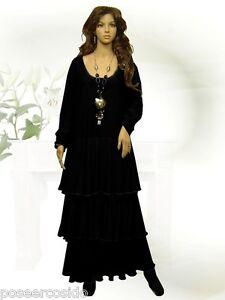 Noire Longue Minable Robe Ballon ° Robe Lagenlook Design Poco q4jRLA53