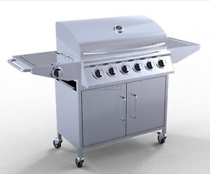 FoxHunter-6-Burner-BBQ-Gas-Grill-Stainless-Steel-Barbecue-1-Side-Outdoor-New
