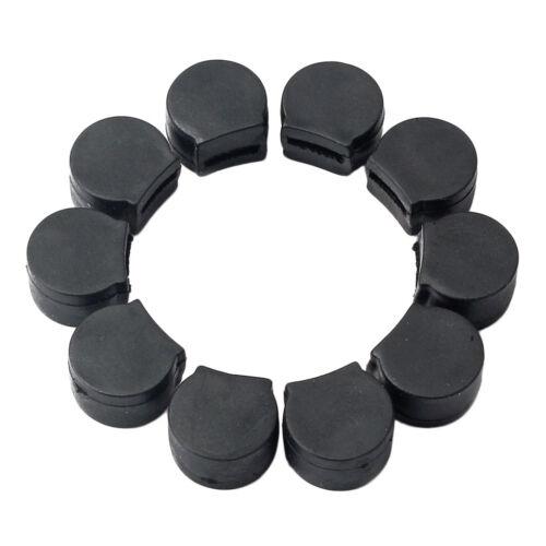 10 Stück Gummi Klarinette Daumenauflage Kissen Finger Pretector schwarz