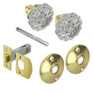 Defiant Passage Door Knob Knobs Brass Glass Hardware