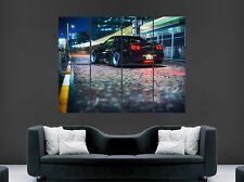 NISSAN SKYLINE BLACK  R34 TOYOTA SUPRA POSTER PRINT STREET RACING WALL ART HUGE